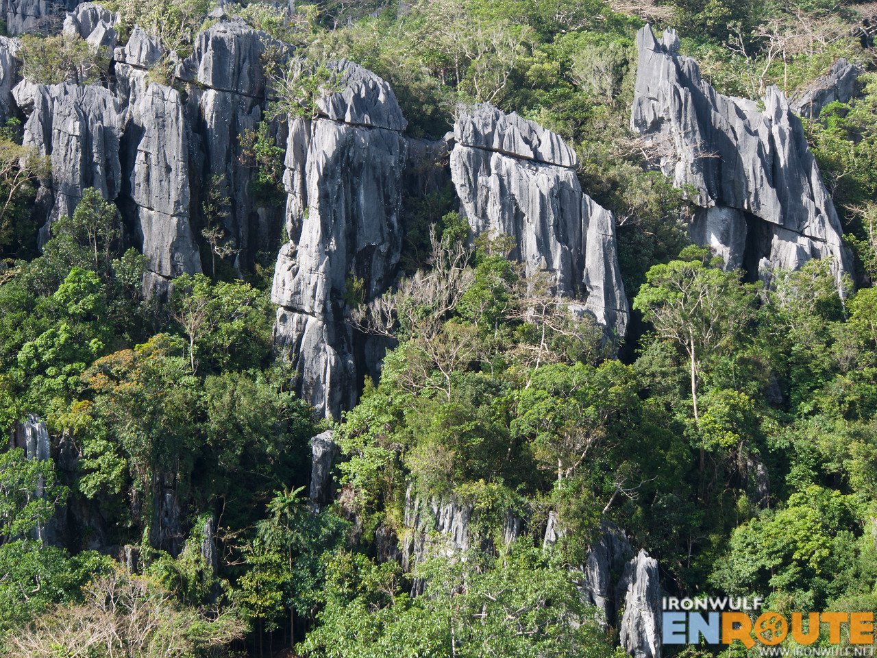 The stunning limestone karst formations at the Masungi Georeserve