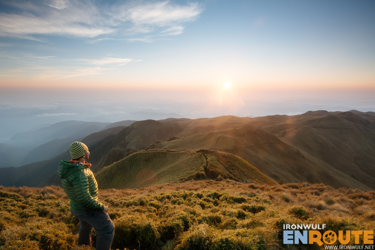 Catching the sunrise at the summit of Mt Pulag