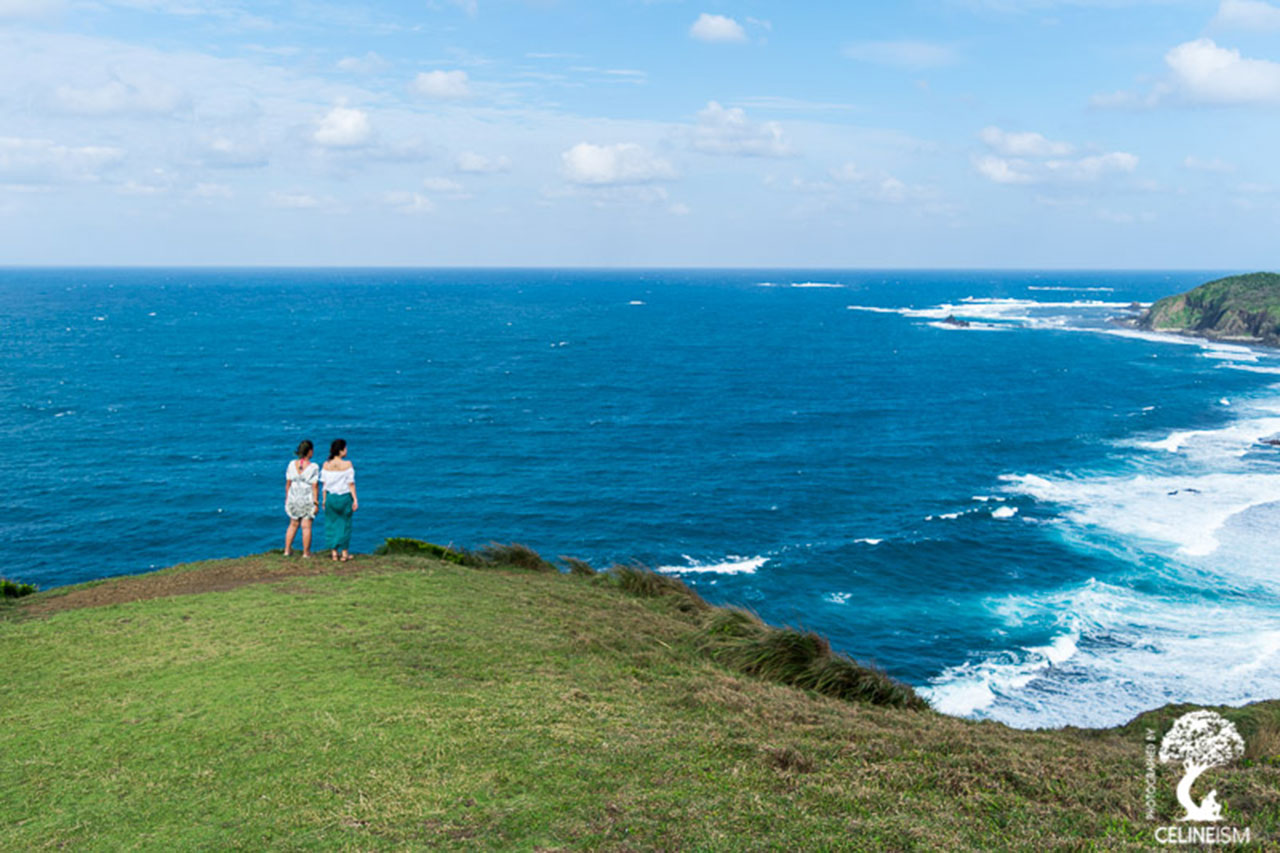 Celine and Gretchen taking in the view at Palaui Island