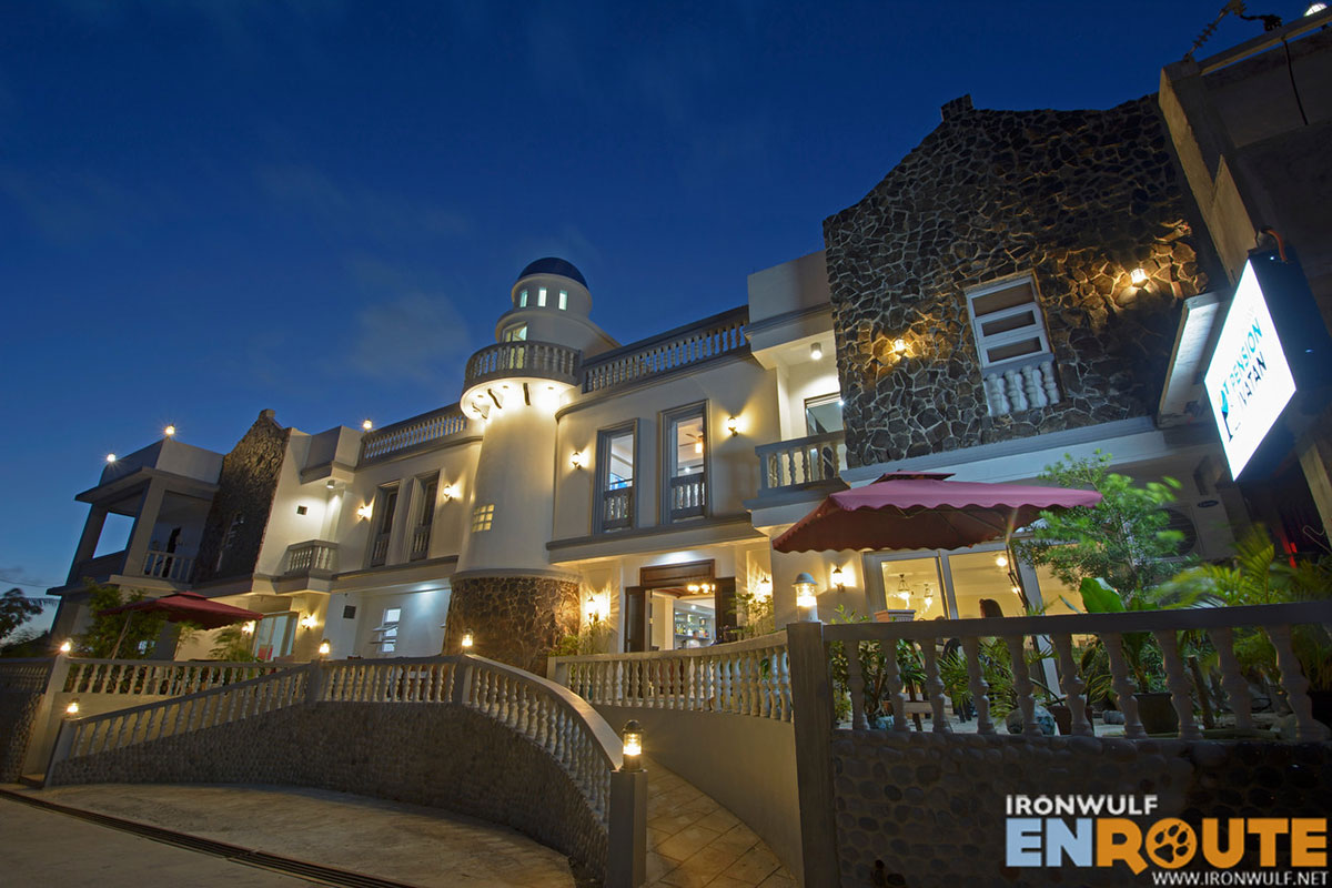 Pension Ivatan at night