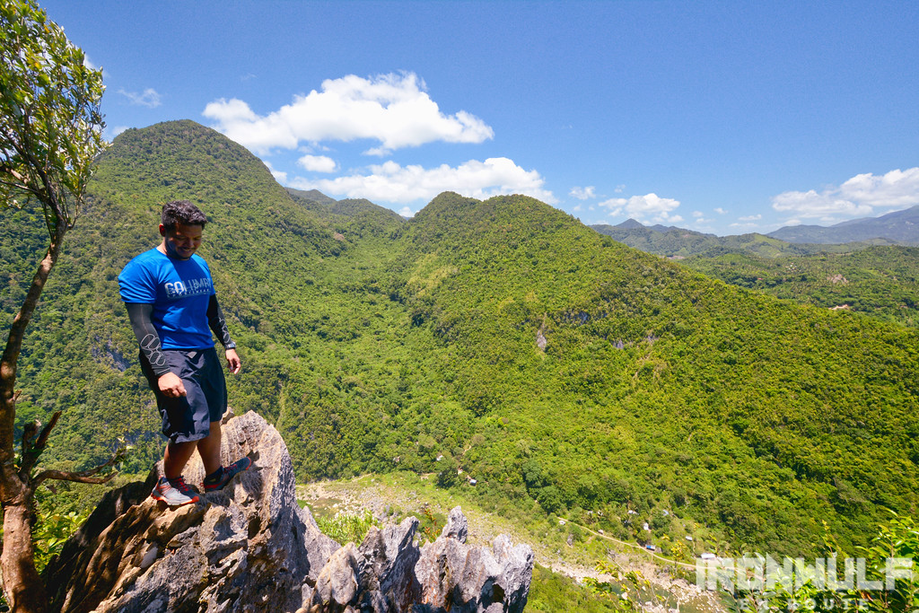 At the summit of Mt Mamara with the summit of Mt Daraitan behind