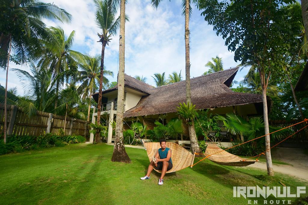 Hanging out at the hammock at Buddha's Surf Resort