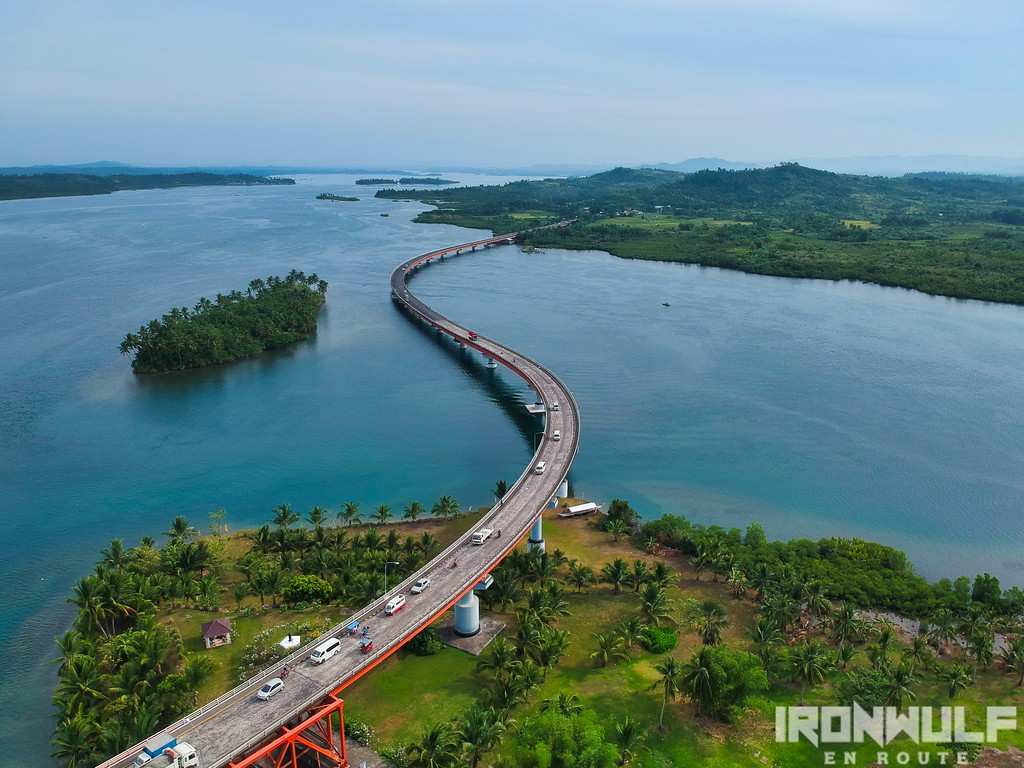 San Juanico Bridge from the air