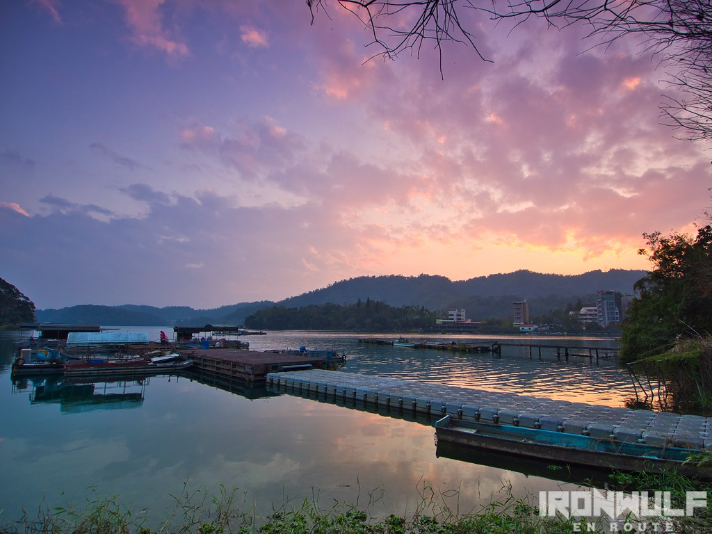 Sunset at Sun Moon Lake