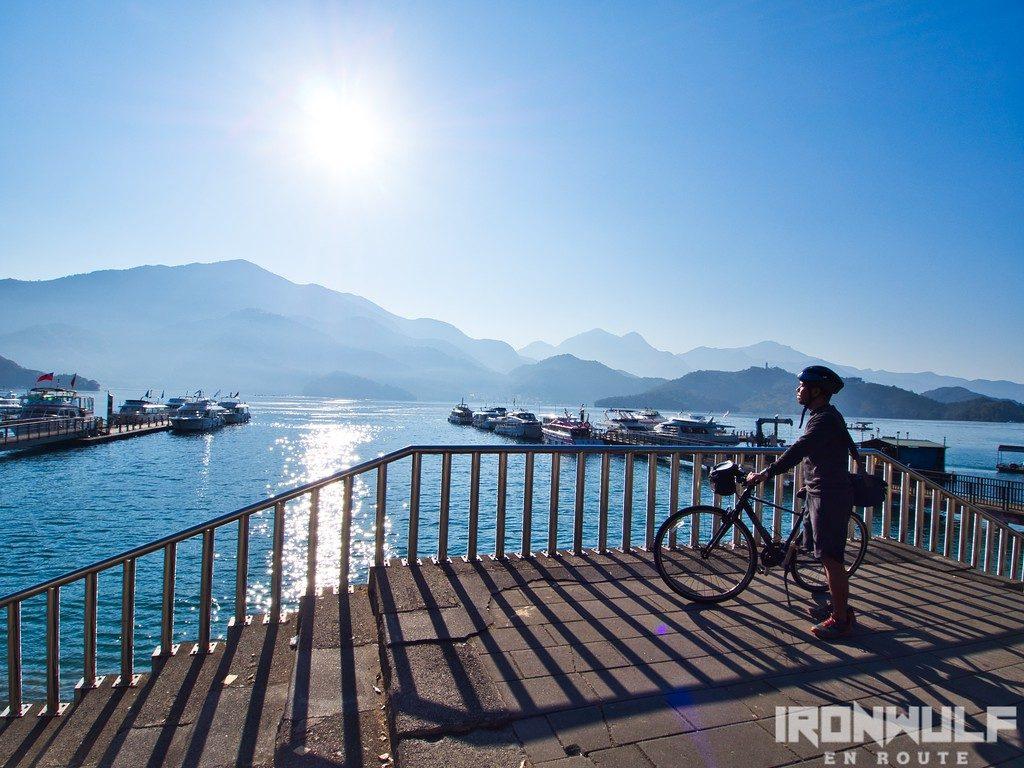 Cycling at Sun Moon Lake