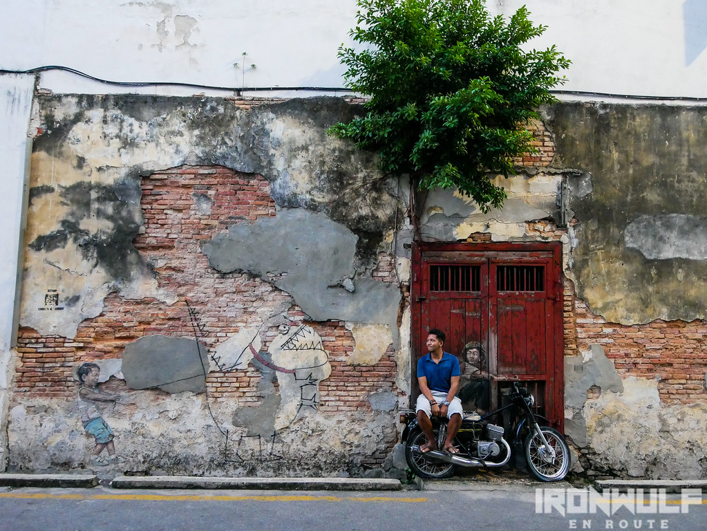 A couple of Zacharevic's murals in George Town