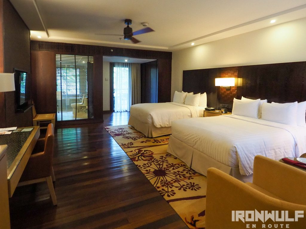 The Premiere Deluxe room at Mulu Marriott Resort & Spa