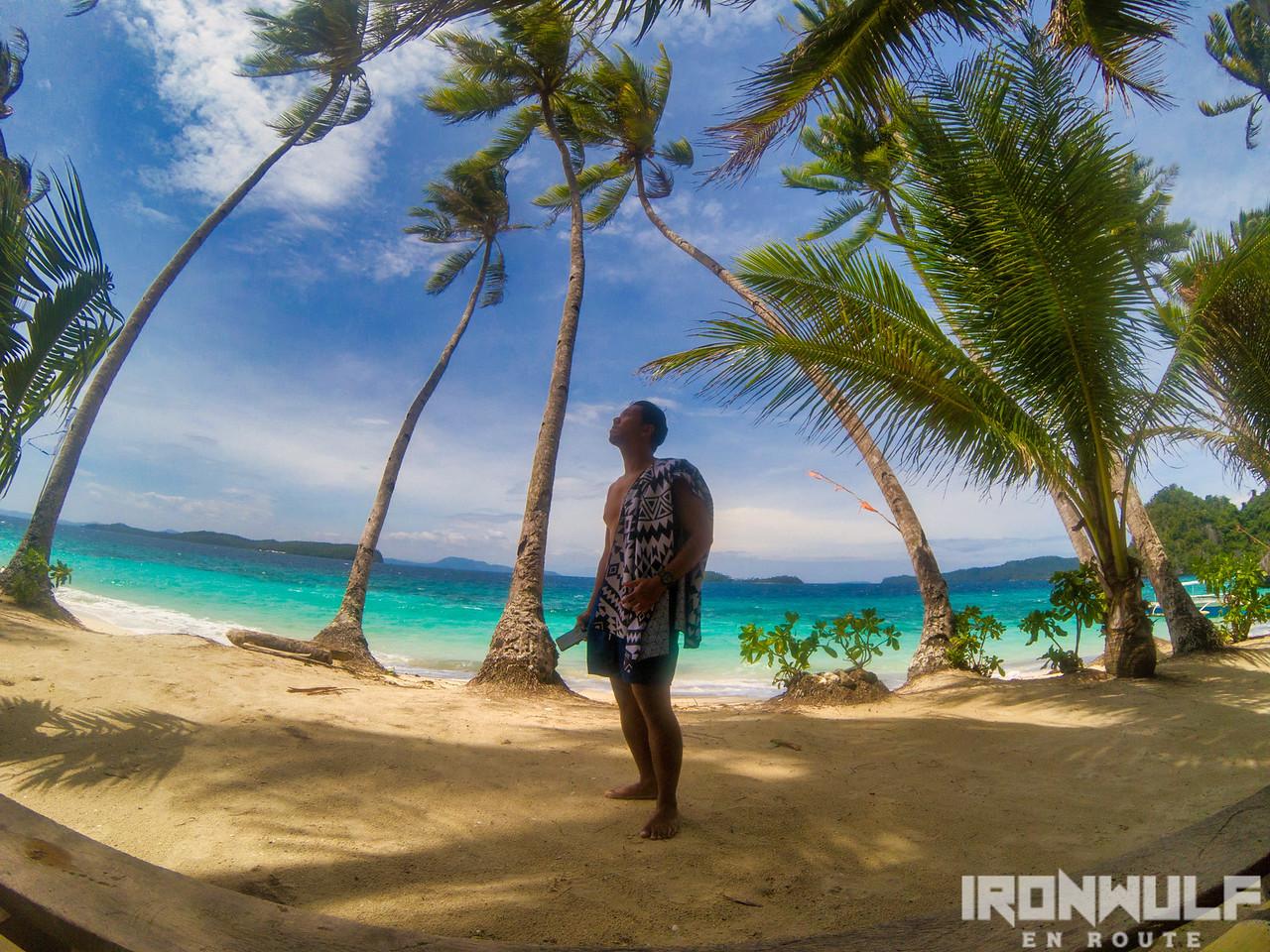 Using the Tesalate Beach Towel at Dinagat Islands