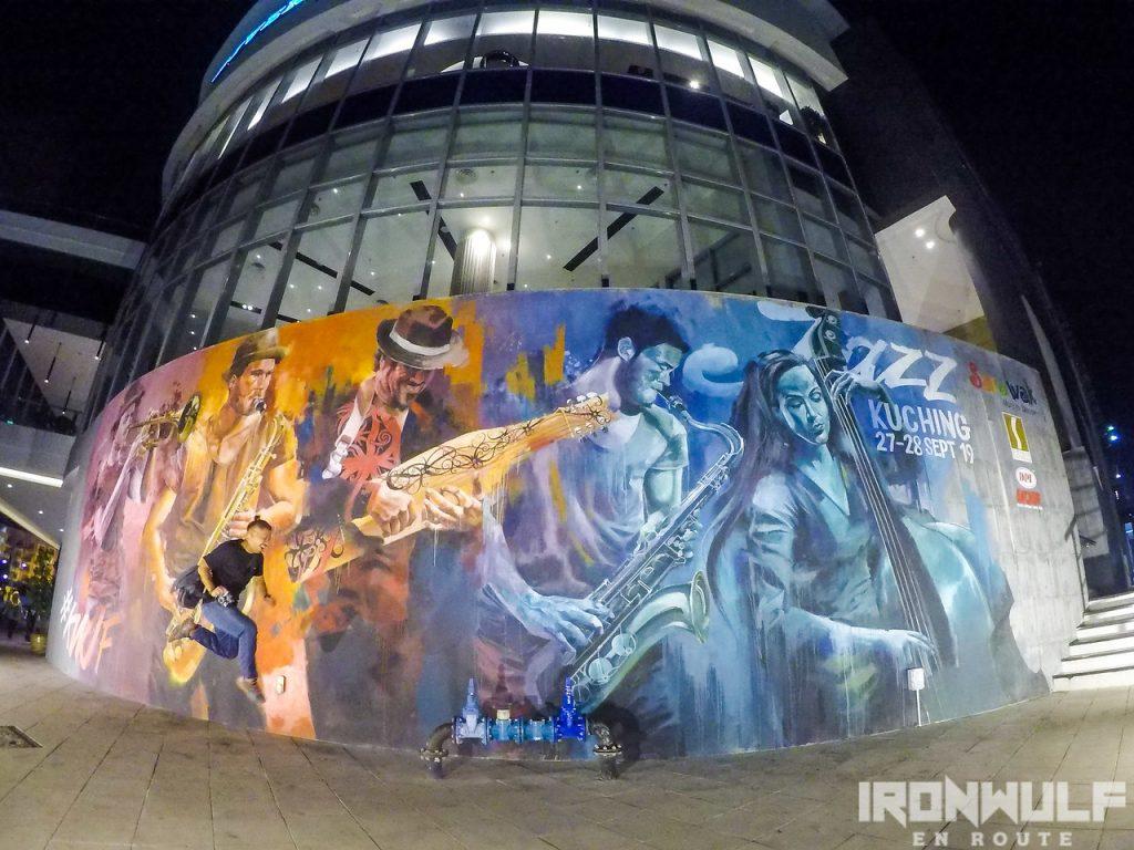 Kuching Jazz Festival Mural by Leonard Siaw