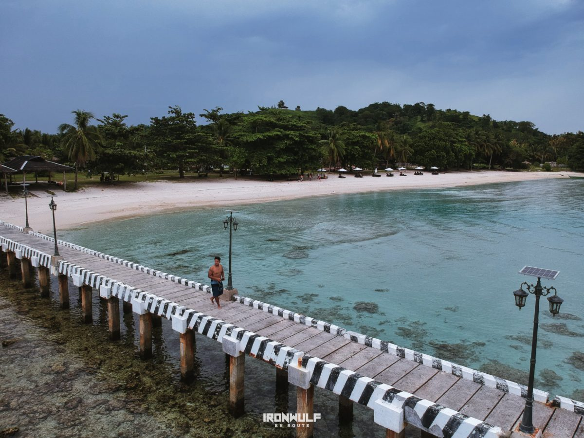 Malamawi white beach wharf in Isabela de Basilan